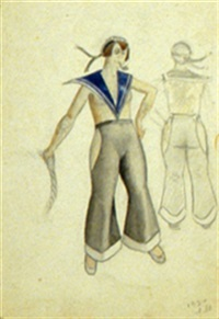 costume design for a sailor (+ costume design for an angel, pencil; 2 works) by markov