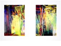 victoria i & ii (pair) by gerhard richter