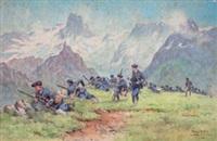 chasseurs alpins à la meidje by bernard rambaud