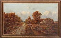 country path and cottage by henry hulsmann
