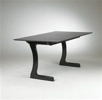 dining table for the helstein house, chicago by bertrand goldberg
