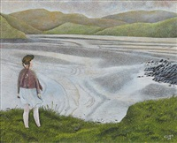 girl beside a lake by james lloyd