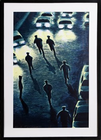 cops and headlights by jane dickson
