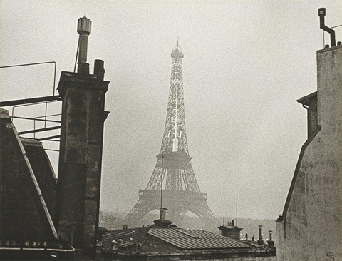 tour eiffel et thermomètre paris by ilse bing