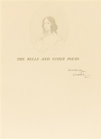 sketch of a young women (bk by edgar allan poe w/1 work, 4to) by edmund dulac