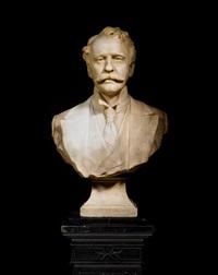 bust of herbert william allingham f.r.c.s. by albert toft