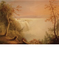 falls of niagara from goat island by rembrandt peale