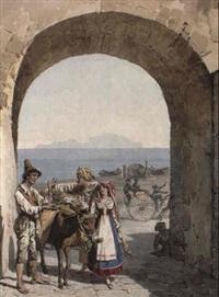 a neapolitan scene with a donkey by alexandr pavlovich bryullov