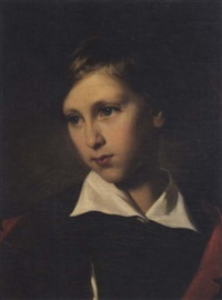portrait of a young boy by fritz kriehuber
