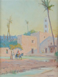 retour à la casbah by louis françois cabanes
