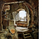 rembrandt's father's mill by edward william cooke