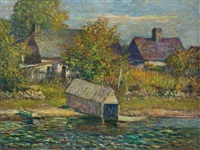 the boathouse, rigaud by frederick william hutchison