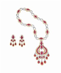 necklace (+ ear pendants; set of 2) by gucci (co.)