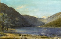 boating (glendalough?) by joseph poole addey