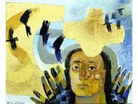 les corbeaux by arcabas
