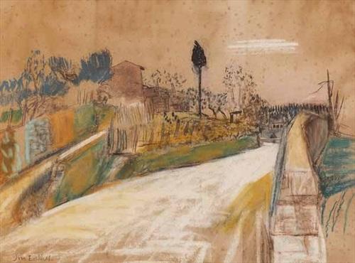 a quiet road, italy by joan kathleen harding eardley