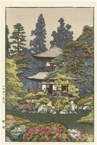 silver pavilion, kyoto (+ 7 others; 8 works) by toshi yoshida