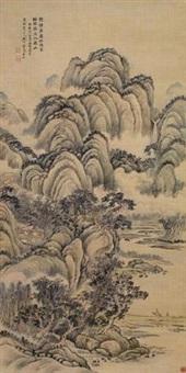 拟唐人诗意图 by jiang jun
