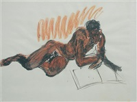 figura sdraiata by rainer fetting