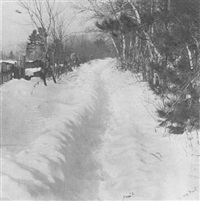 a winter path by william b. post