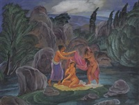 les baigneuses by aleksei ilych kravchenko