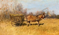 donkey carriage by geza mészöly