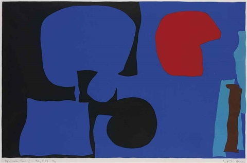 plate i (+ 2 others; 3 works from winchester four series) by patrick heron