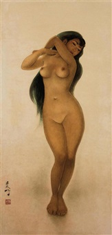 telanjang berdiri (standing nude) by lee man fong