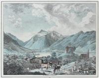 schliersee (+ansicht von wendelstein unweit barisch zell; 2 works) by carl friedrich heinzmann