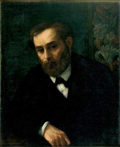 portrait présumé deugène manet by alphonse legros
