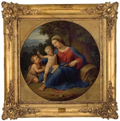 hl maria mit jesus und johannesknaben by josef arnold the elder