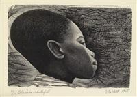 negro es bello i (black is beautiful) by elizabeth catlett