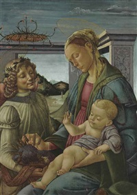 the madonna of the eucharist by sandro botticelli