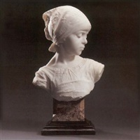 bust of a young girl by achille alberti