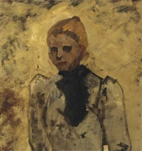portrait of a koffiepikster by george hendrik breitner