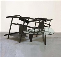 coffe table piece (w/prototype of noguchi's table) by txomín badiola