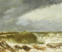 la vague (the wave) by gustave courbet