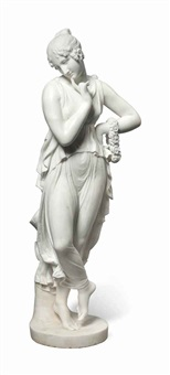 dancer with finger touching her chin by antonio canova