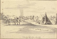 an encampment at louvain by josua de grave