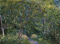 sous-bois by alfred sisley