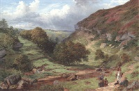 heath in bloom, near whitby by thomas j. banks