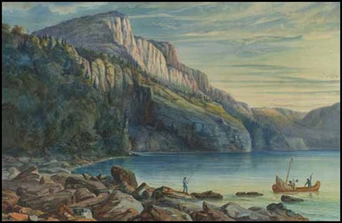 setting camp lake nipigon by william wallace armstrong