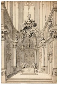 study of the chapel of st. vitale in the church of st. gervais, paris by gilles-marie oppenort