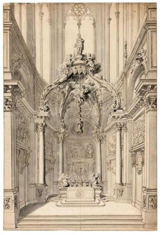 study of the chapel of st vitale in the church of st gervais paris by gilles marie oppenort