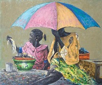 mother and child by kunle adegborioye