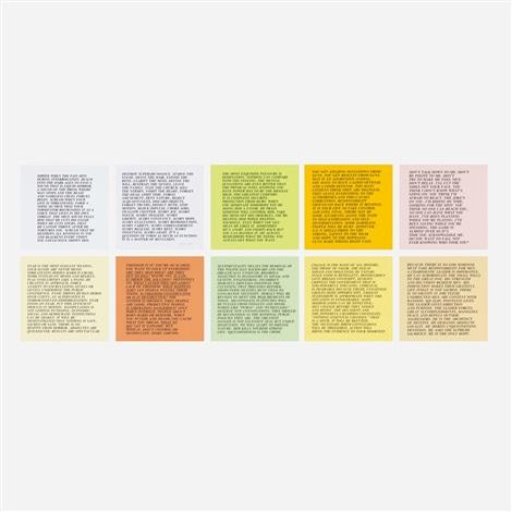 inflammatory essays set of 10 by jenny holzer