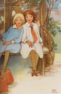 illustration for the old pincushion (i know, said phillippa quietly...) by mabel lucie attwell