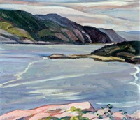 pink rock, the saguenay river, p.q. by nora frances elisabeth collyer
