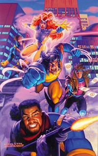 x men (preparatory study for a poster) by greg and tim hildebrandt