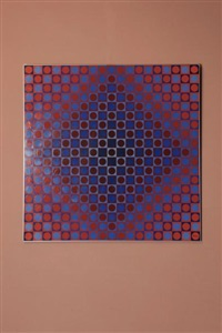 alom blue/red avril by victor vasarely